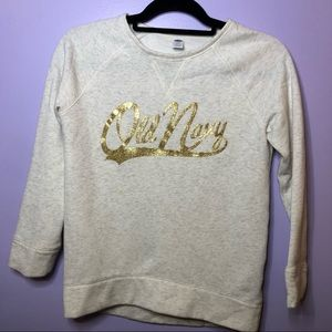 cream old navy sweatshirt
